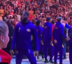 LeBronJames » NBA star displays unusually archaic gait in walk out of US National Anthem » Human Evolution News » 1