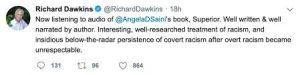 RichardDawkins » Angela Saini, controversial race realism denier criticized by Eugenics pragmatist Richard Dawkins » Human Evolution News » 2