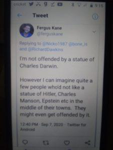 FergusKane » Charles Darwin awkward comparison to the Nazis: Fergus Kane, UK's NHS says Yes, he's Hitler » Human Evolution News » 1